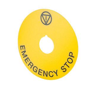 etichetta indicatrici di emergenza