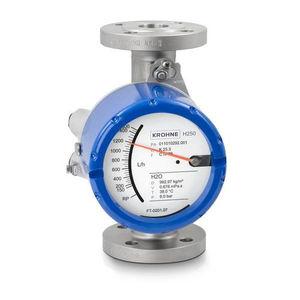 misuratore di portata a sezione variabile / per liquidi / con tubo di metallo / in linea