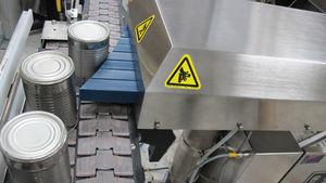 smistatore con spingitori / automatico / per bidoni / per linea di imballaggio