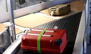 smistatore con pianale ribaltabile / per bagagli / per aeroporto