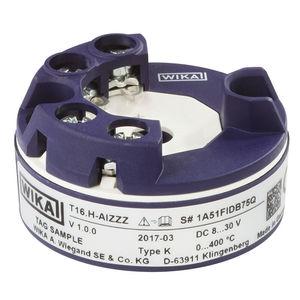 trasmettitore di temperatura digitale / su testa di sonda / su guida DIN / universale