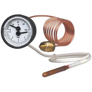 termometro con sonda / analogico / per montaggio in superficie / con quadrante