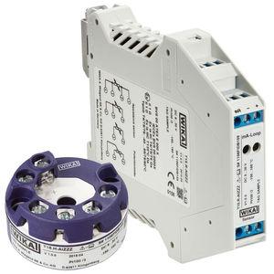 trasmettitore di temperatura digitale / su testa di sonda / su guida DIN / Pt100