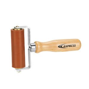 rullo di pressione con manico in legno