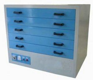 armadio di asciugatura multi-cassetti / in metallo / da terra / per telaio di serigrafia orizzontale