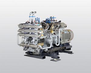 compressore raffreddato ad acqua / d'aria / di azoto / di gas naturale