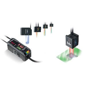 sensore di colore RGB / in fibra ottica / digitale / rettangolare