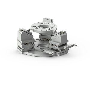 piastra di posizionamento lineare / piezoelettrica / 3 assi / vuoto-compatibile