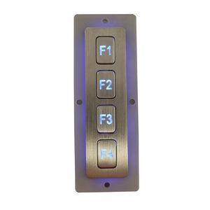 tastiera numerica 4 tasti / ad incastro / in acciaio inox / antivandalismo