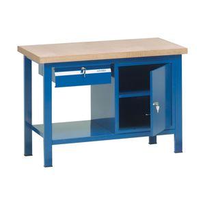 banco da lavoro in legno / a cassetti / a porta / monoblocco