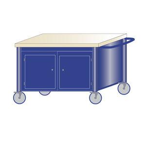 banco da lavoro in legno / monoblocco / mobile / a 2 porte