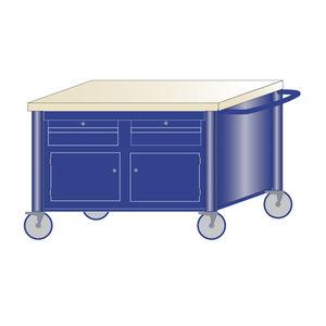 banco da lavoro in legno / monoblocco / mobile / 2 cassetti