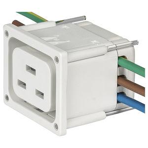 connettore di alimentazione elettrica / a scatto / in termoplastica / IEC