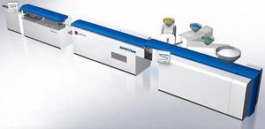 linea di estrusione per la produzione di tubi di imballaggio flessibili / per tubi / per PP / multistrato