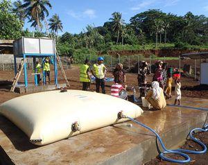 serbatoio di stoccaggio di acqua potabile