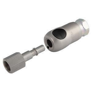 raccordo rapido / dritto / per aria compressa / in acciaio inossidabile