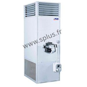 generatore di aria calda stazionario / a gas / ad olio combustibile / verticale