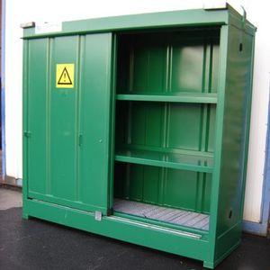 armadio di stoccaggio / a pavimento / a 2 porte / a ripiani