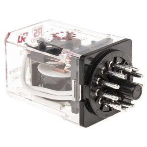 relè elettromeccanico a innesto / AC / 3NA/NC / su guida DIN