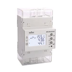 contatore di energia elettrica trifase / su guida DIN / programmabile / Modbus