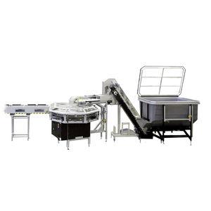 alimentatore per imballaggio preformato / a nastro / per linea di imballaggio / compatto