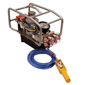 centralina idraulica con motore pneumatico