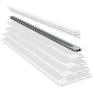 profilo in alluminio anodizzato / con scanalature / piatto / leggero