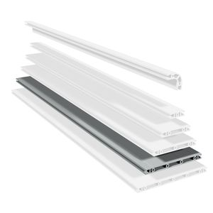 profilo in alluminio anodizzato / con scanalature / a sezione rettangolare / estruso