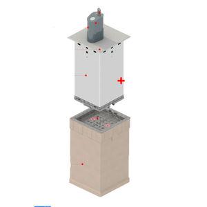 contenitore interrato in acciaio