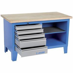 banco da lavoro in legno / 5 cassetti