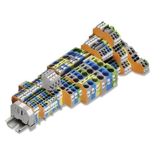 morsetto componibile push-in / con connessione a molla / su guida DIN / a presa