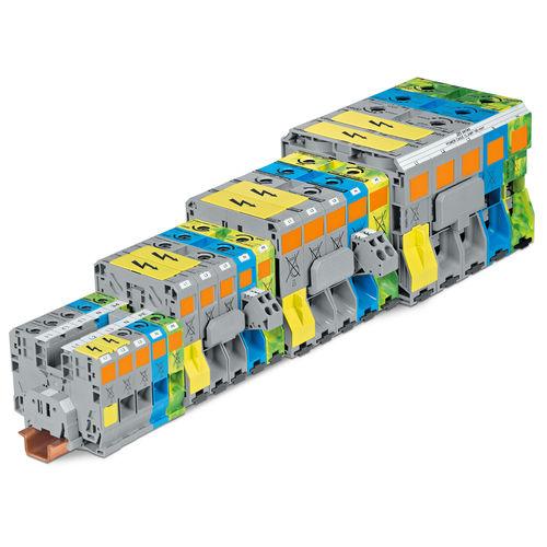 morsetto componibile senza viti / su guida DIN / di potenza / per correnti forti