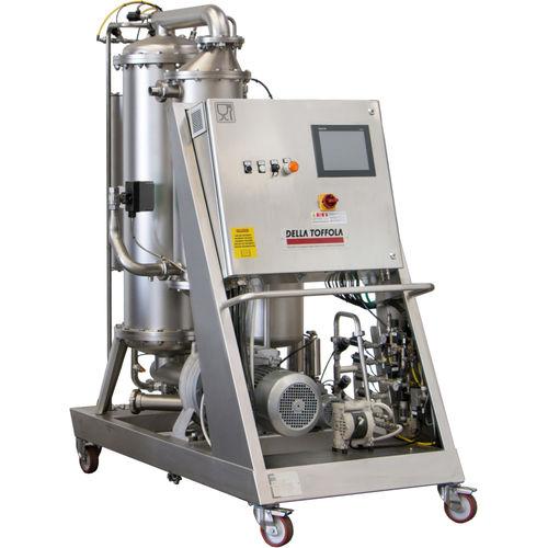 filtro per liquidi alimentari e bevande / a membrana / mobile / flusso trasversale