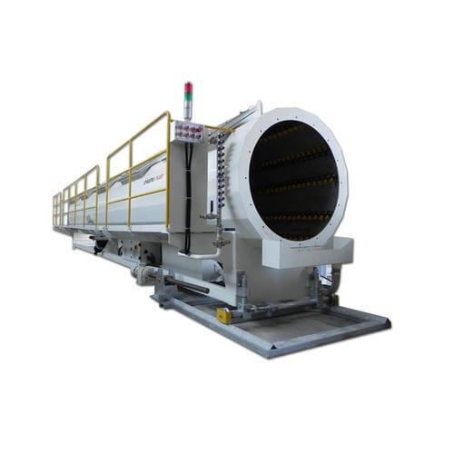 vasca di calibrazione per tubi / sottovuoto / in acciaio inossidabile