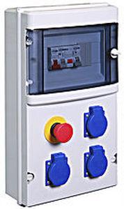 scatola elettrica attrezzata / a muro / in ABS / per cantiere