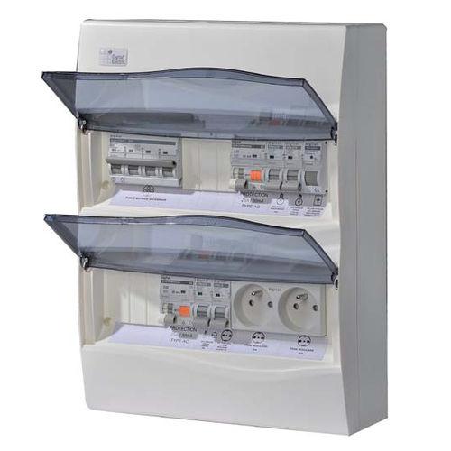 scatola elettrica attrezzata / a muro / in ABS / con presa di corrente
