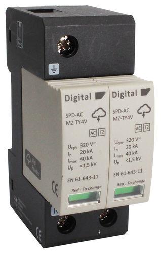limitatore di sovratensione di tipo 2 / su guida DIN / AC