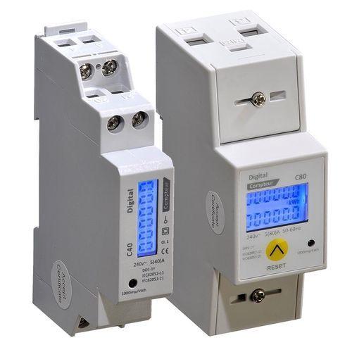 contatore di energia elettrica monofase / su guida DIN / con uscita digitale