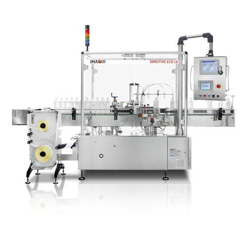 macchina di etichettatura automatica / per etichette adesive / per bottiglie / lineare