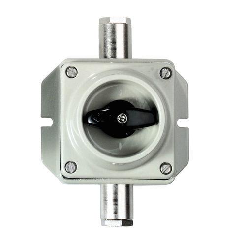commutatore rotativo / 2 poli / on/off / in alluminio