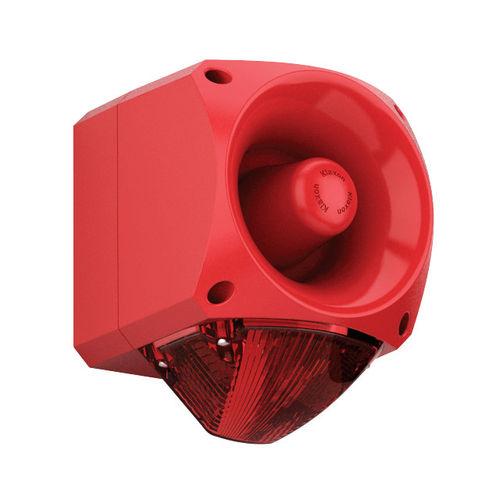 diffusore di allarme sonoro per ambienti difficili / IP66 / con luci di segnalazione / con luce a LED