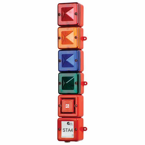 colonna luminosa allo xeno / permanente / a 4 colori / con clacson di allarme