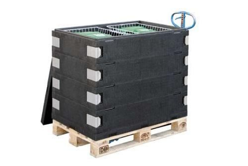 cassa-pallet in legno / isotermica