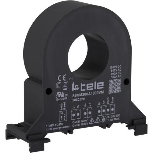 contatore di energia elettrica monofase / su guida DIN / a muro / da montare su pannello