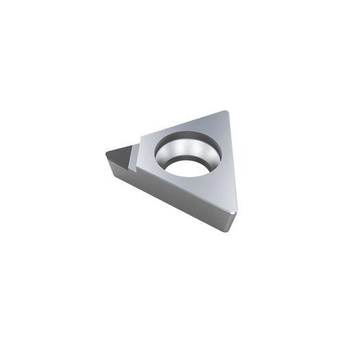 inserto da taglio PCD / per metalli non ferrosi / triangolare / a una sola faccia