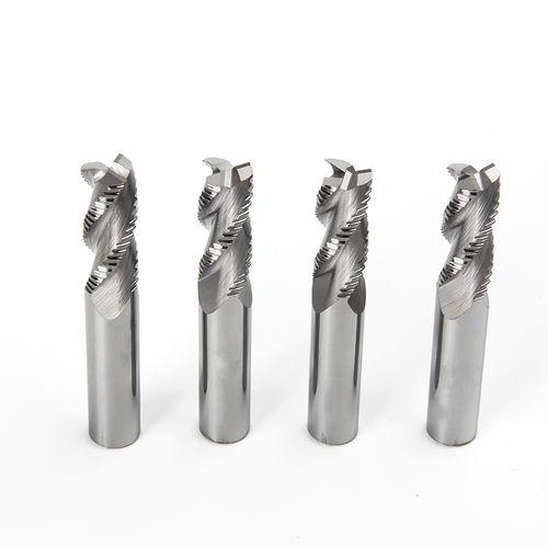 fresa integrale / di sgrossatura / per alluminio / in lega di alluminio