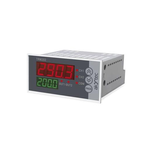 controllore di temperatura digitale / con doppio display a LED / multivia / di riscaldamento