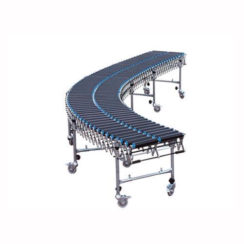 trasportatore curvo / a rulli / per linea di imballaggio / allungabile