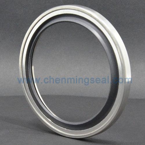 guarnizione a labbro / circolare / in acciaio inox / in PTFE