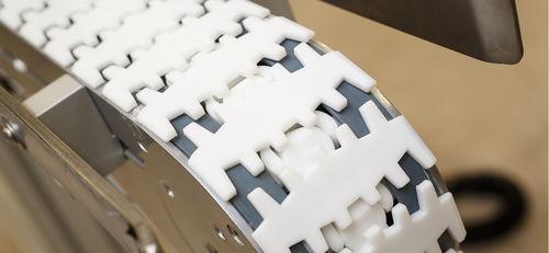 catena di trasporto in acciaio / flessibile / modulare / di grandi dimensioni